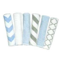 Kushies Ensemble de 6 Débarbouillettes de Kushies Baby/Kushies Baby Set of Wash Cloths, Garçon/Boy