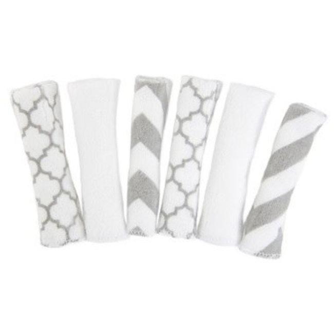 Kushies Kushies - Paquet de 6 Débarbouillettes Simple Plis/6 Pack Wash Clothes Single Ply