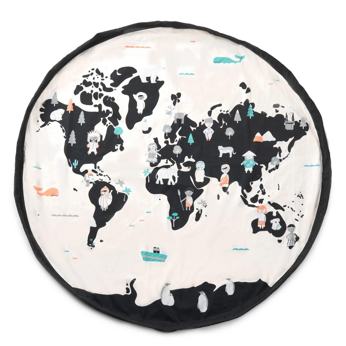 Tapis D Éveil Sac A Jouets play & go - sac de rangement et tapis de jeu , carte du monde