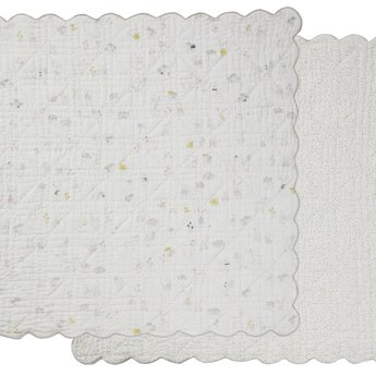 Pehr Pehr - Scalloped Quilted Blanket, Magical Forest
