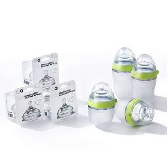 Como Tomo Como Tomo - Baby Bottle and Replacement Nipples Bundle, Green