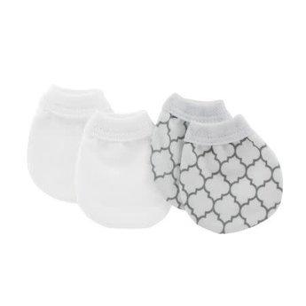 Kushies Kushies - No Scratch Mittens, White Ornaments