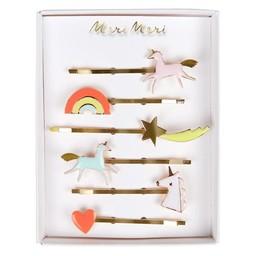 Meri Meri Meri Meri - Pack of Enamel Hair Slides, Unicorns