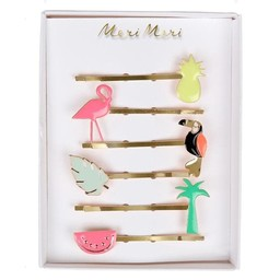 Meri Meri Meri Meri - Pack of Enamel Hair Slides, Tropical
