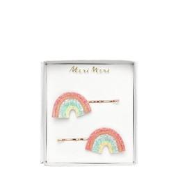 Meri Meri Meri Meri - Pack ok Glitter Hair Slides, Rainbow
