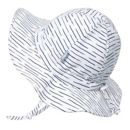 Jan & Jul Jan & Jul - Grow With Me Cotton Sun Hat, White with Waves
