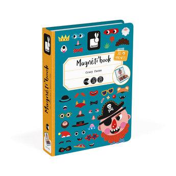 Janod Janod - Livre Magnétique, Visages Garçon