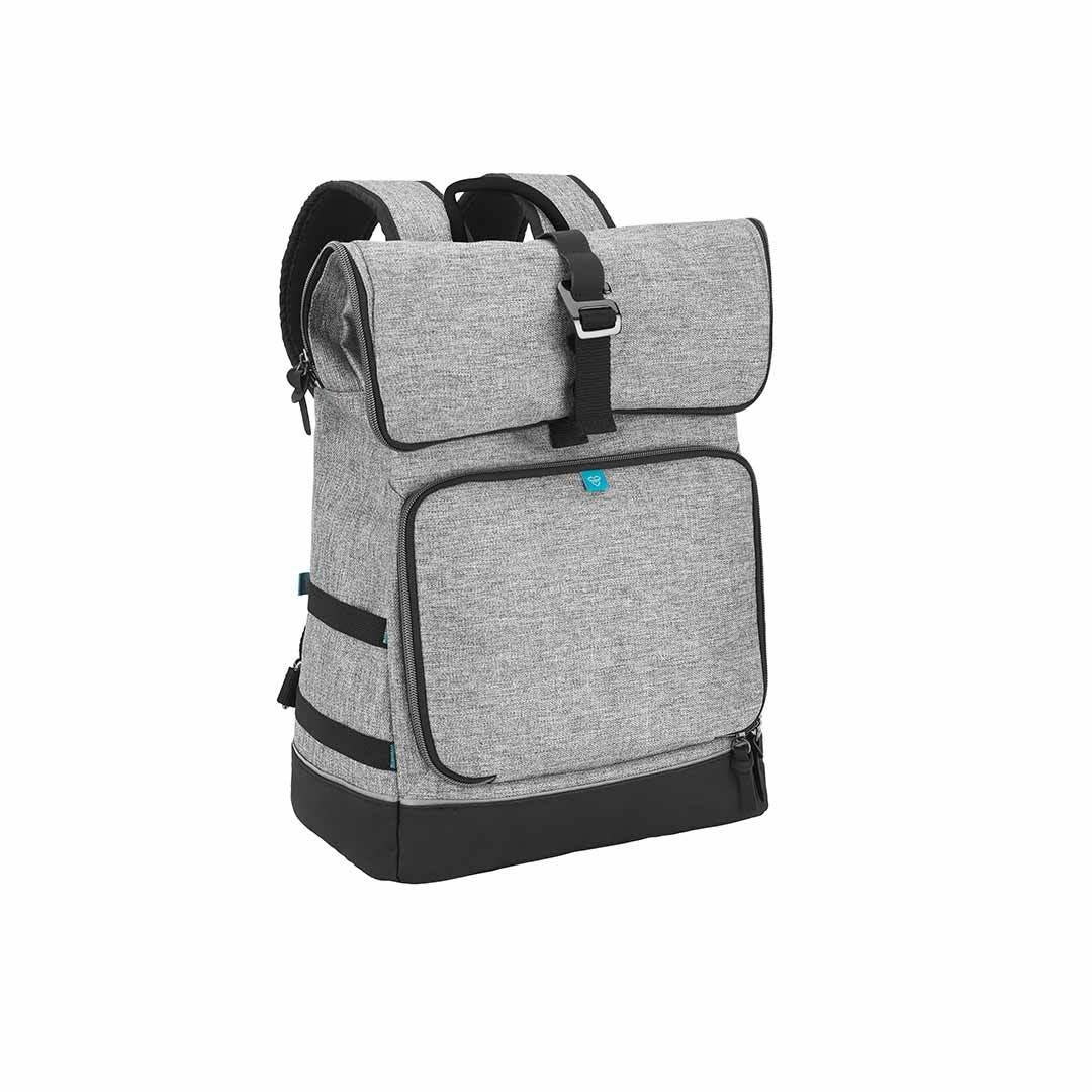 Brand new in bag Babymoov style baby changing bag with changing mat in Smokey