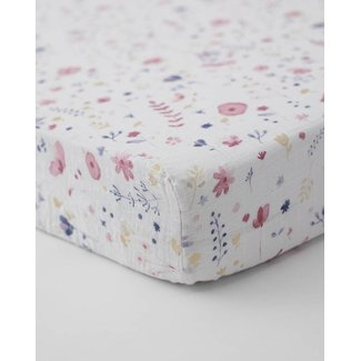 Little Unicorn Little Unicorn - Cotton Muslin Crib Sheet, Fairy Garden