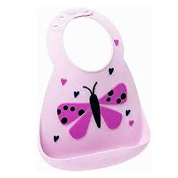Make my day Make my Day - Bavoir en Silicone, Papillon