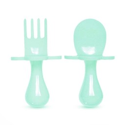 Grabease Grabease - Fork and Spoon Ustensil Set, Mint to Be