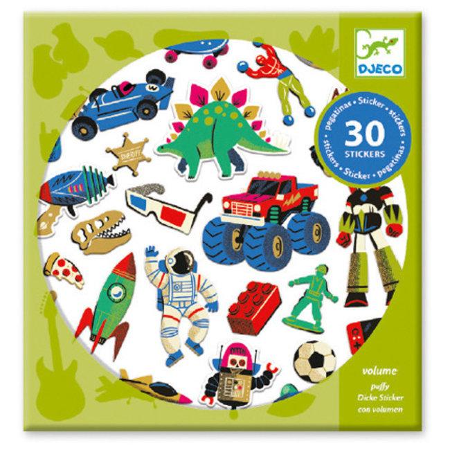 Djeco Djeco - Autocollants, Retro Toy