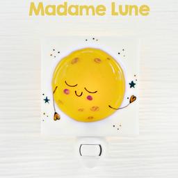 Veille Sur Toi Veille sur Toi - Veilleuse en Verre Madame Lune
