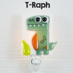 Veille Sur Toi Veille sur Toi - Glass Nightlight Dinosaur T-Raph