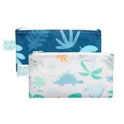 Bumkins Bumkins - Paquet de 2 Sacs à Collation Réutilisables, Tropiques Bleus