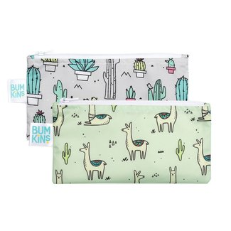 Bumkins Bumkins - Reusable Snack Bag 2 Pack, Llama