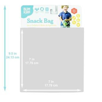 Bumkins Bumkins - Large Reusable Snack Bag, Blue Tropic