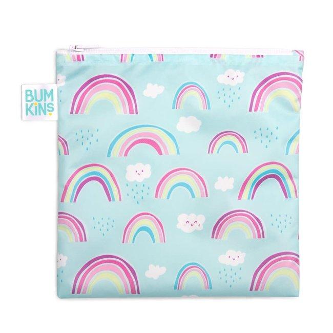 Bumkins Bumkins - Large Reusable Snack Bag, Rainbows