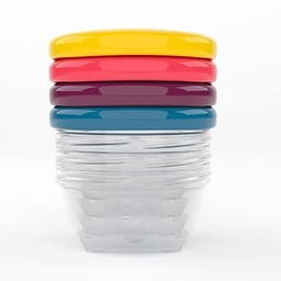 Babymoov Babymoov - Set of 4 Babybowls, 4oz, Assorted Colors