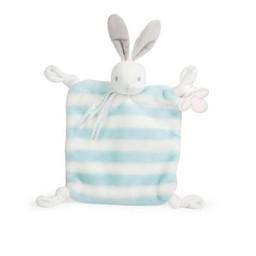 Kaloo Kaloo - Bebe Pastel Doudou Rabbit, Aqua Cream Stripes