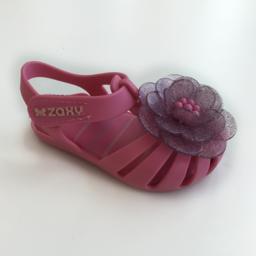 Zaxy Zaxy - Sandales pour Filles Flower Baby, Rose Foncé