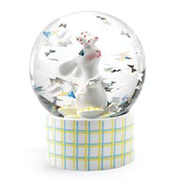 Djeco Djeco - Mini Snow Globe So Wild, Rabbit