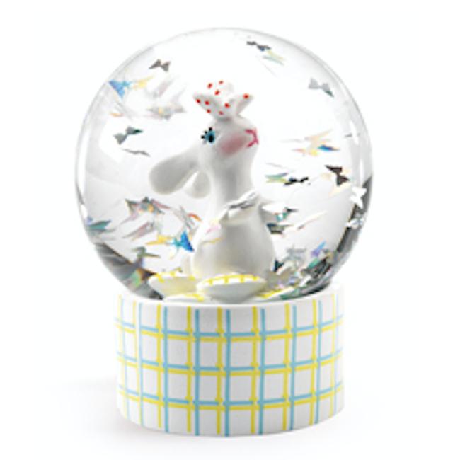 Djeco Djeco - Mini Boule à Neige So Wild, Lapin