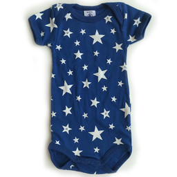 Petit Bateau Petit Bateau - Caches-Couches Vintage Star, Bleu Étoiles