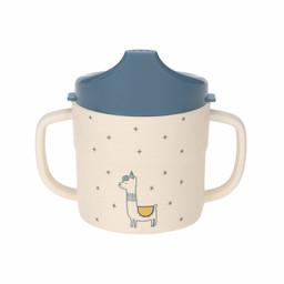 Lässig Lässig - Bamboo Sippy Cup, Glama Lama Blue