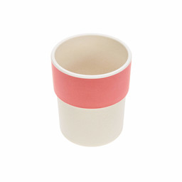 Lassig Lässig - Bamboo Mug for Baby, Glama Lama Coral
