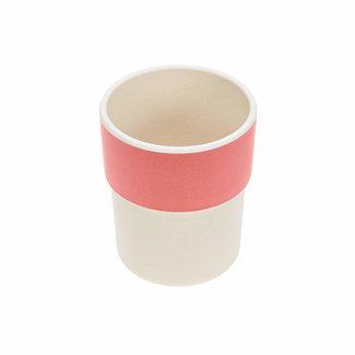 Lässig Lässig - Bamboo Mug for Baby, Glama Lama Coral