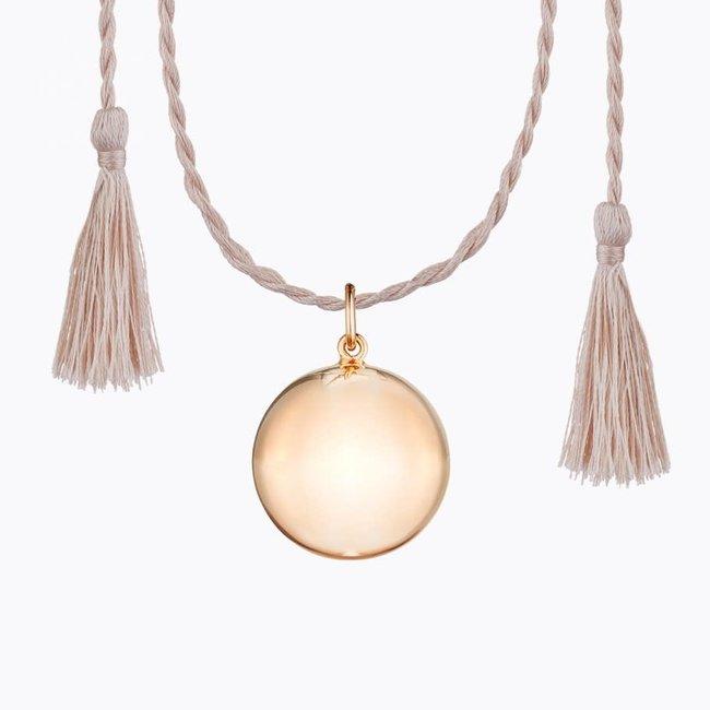 Ilado Ilado - Joy Maternity Necklace, Rose Gold Silk Cord