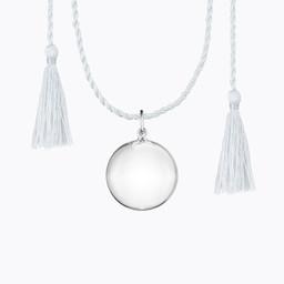 Ilado Ilado - Joy Maternity Necklace, Silver Silk Cord