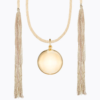Ilado Ilado - Acapulco Maternity Necklace, Yellow Gold Japanese Golden Cord
