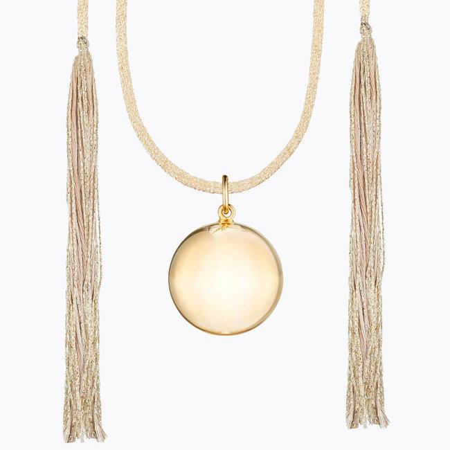 Ilado Ilado - Acapulco Maternity Necklace, Yellow Gold Japanese Golden Cord