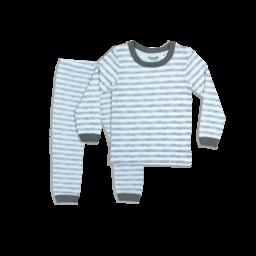 Coccoli Coccoli - Pyjama 2 Pièces en Jersey Modal, Sprig Gris sur Bleu