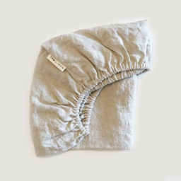 7PM Linen 7PM Linen - Linen Fitted Sheet, Natural