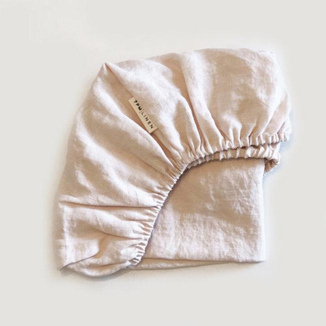 7PM Linen 7PM Linen - Linen Fitted Sheet, Peony