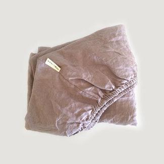 7PM Linen 7PM Linen - Linen Fitted Sheet, Rosewood