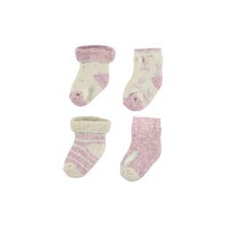 Mayoral Mayoral - Set of 4 Pairs of Socks, Baby Pink