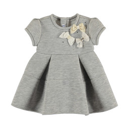 Mayoral Mayoral - Bows Grey Dress