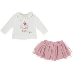 Mayoral Mayoral - Pink Tulle Skirt Set