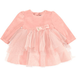 Mayoral Mayoral - Robe Velours Tulle Rose