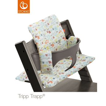 Stokke Stokke - Easy Wipe Cushion for Tripp Trapp, Retro Cars