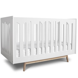 Dutailier Dutailier Lollipop - Convertible Crib, White Natural Legs