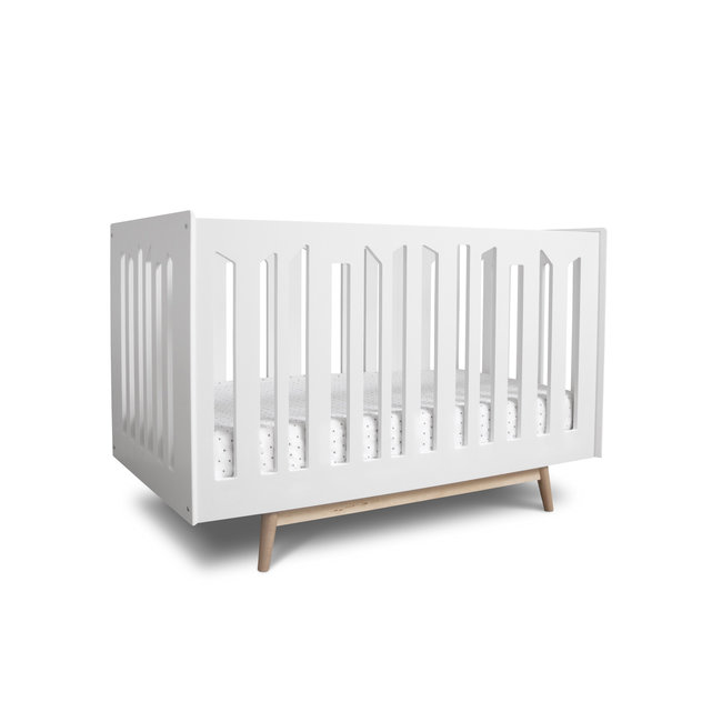 Dutailier Dutailier Lollipop - Convertible Crib, White Natural Legs, Stock Program