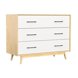 Dutailier Dutailier Lollipop - 3 Drawers Dresser, Natural White