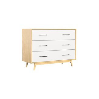 Dutailier Dutailier Lollipop - 3 Drawers Dresser, Natural White, Stock Program