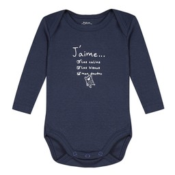 3 pommes 3 pommes - Long Sleeves Romper, Navy