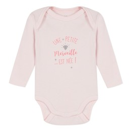 3 pommes 3 pommes - Long Sleeves Romper, Pink